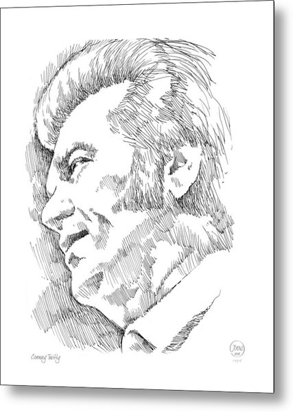 Conway Twitty Metal Print