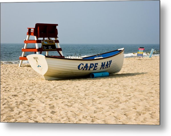 Cool Cape May Beach Metal Print