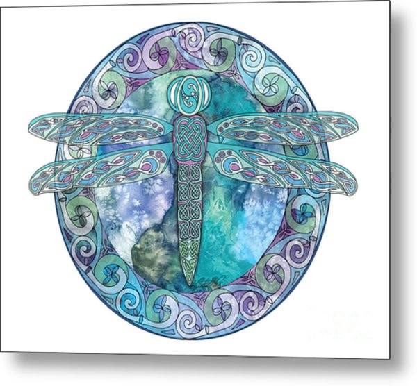 Cool Celtic Dragonfly Metal Print