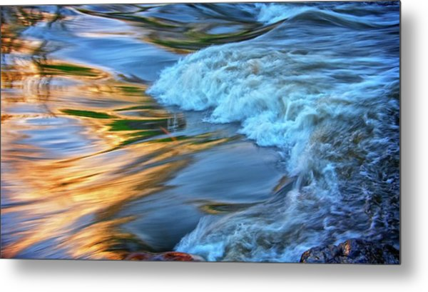 Cool Liquid Gold Metal Print