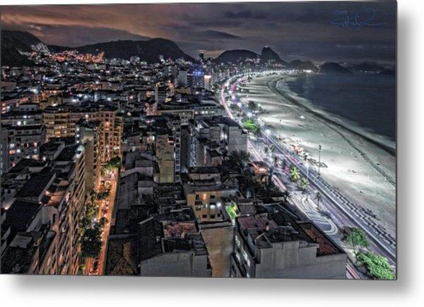 Copacabana Lights Metal Print