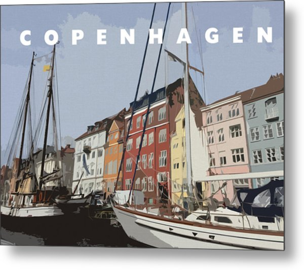 Copenhagen Memories Metal Print