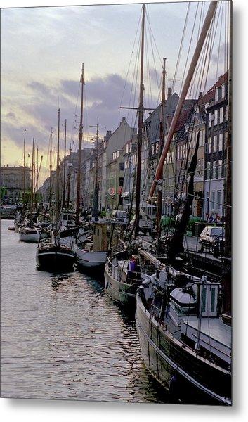 Copenhagen Quay Metal Print