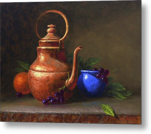 Copper And Cobalt Metal Print