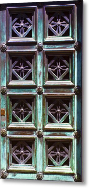 Copper Door Metal Print