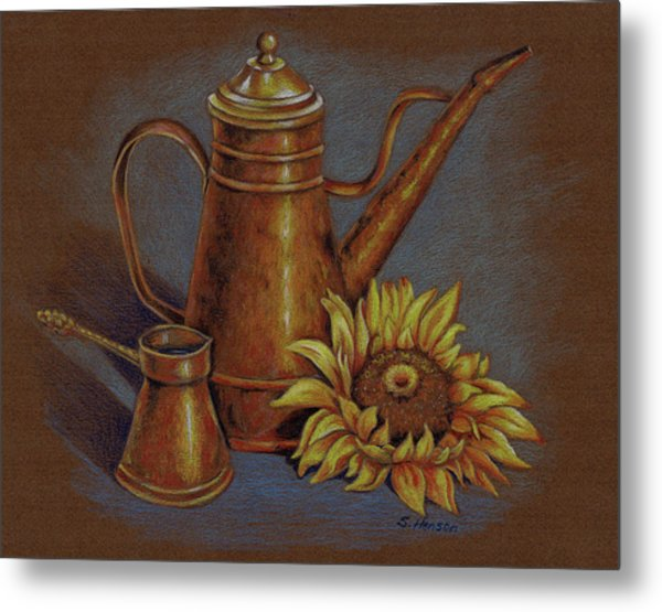 Copper Kettle Metal Print