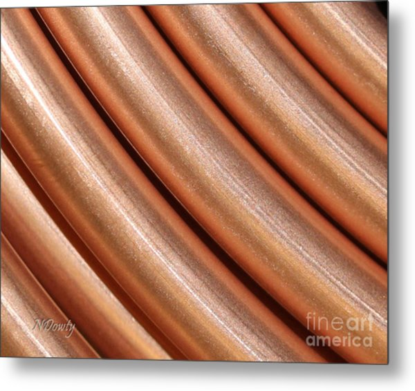Copper Pipes Metal Print