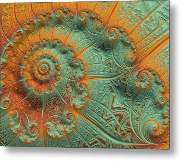 Copper Verdigris Metal Print
