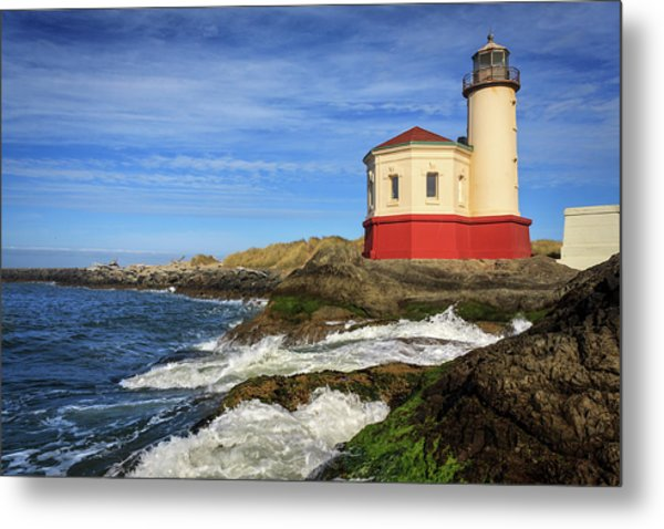 Coquille River Lighthouse At Bandon Metal Print