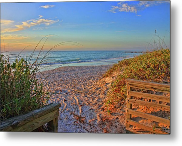 Coquina Beach By H H Photography Of Florida  Metal Print
