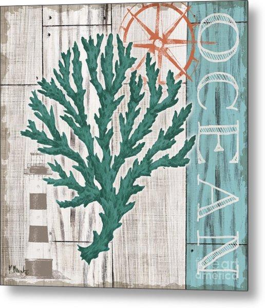 Coral Azul Iv Metal Print by Paul Brent