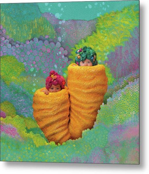 Coral Babies Metal Print