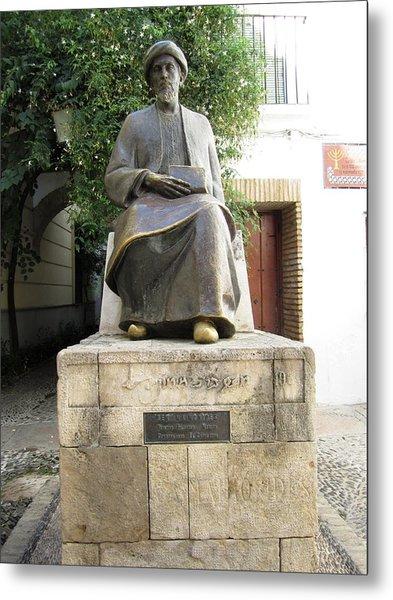 Cordoba Maimonides Statue Or Moses Ben Maimon Aka Rambam Jewish Quarter Viii Spain Metal Print