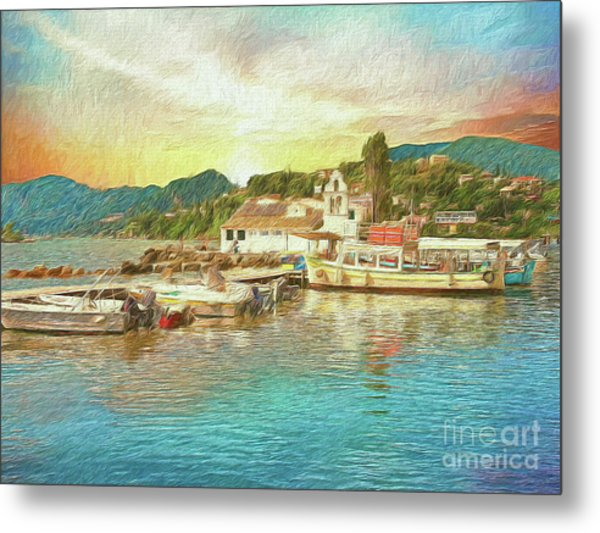 Metal Print featuring the photograph Corfu 30 My Passion Paintography by Leigh Kemp