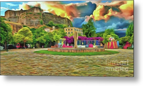 Metal Print featuring the photograph Corfu 32 - Near The Fortress by Leigh Kemp
