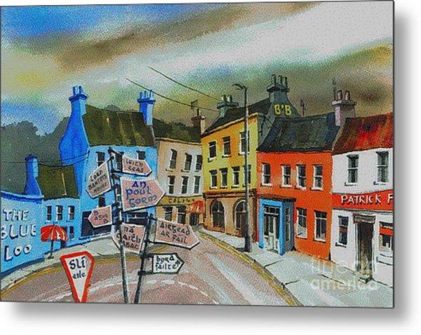 Cork... Glengarriff Signposts Metal Print