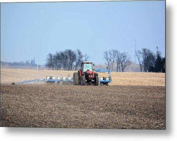 Corn Planting Metal Print