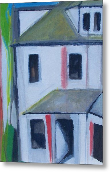 Corner House On Staten Island Metal Print