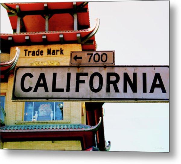 Corner Of California- Art By Linda Woods Metal Print