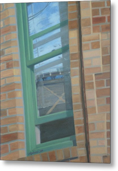 Corner Window Metal Print
