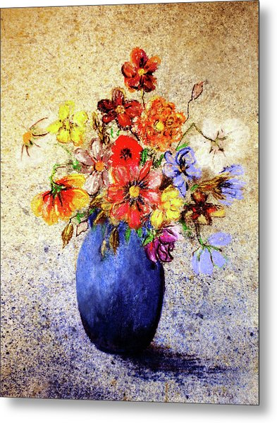 Cornucopia-still Life Painting By V.kelly Metal Print