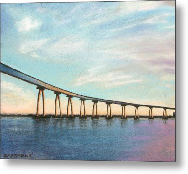Coronado Bridge Sunset A Metal Print