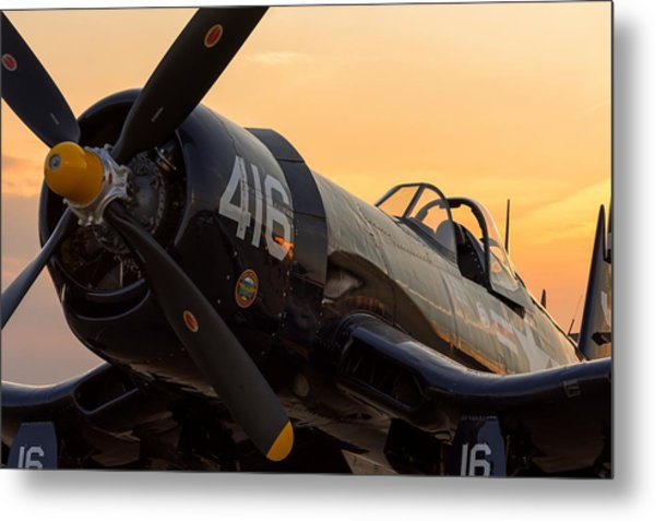 Corsair At Sunset Metal Print