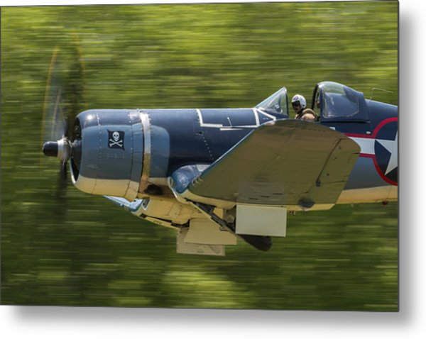 Corsair Close-up On Takeoff Metal Print