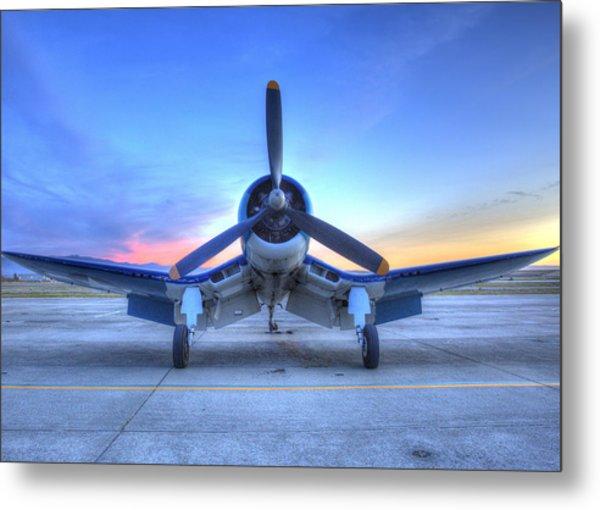 Corsair F4u At The Hollister Air Show Metal Print