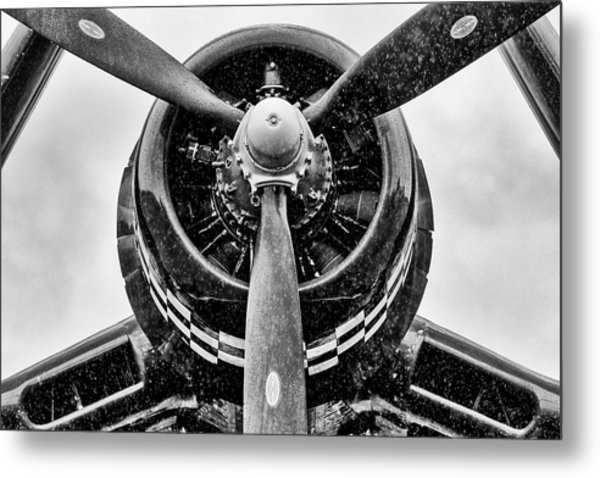 Corsair In Heavy Rain Metal Print