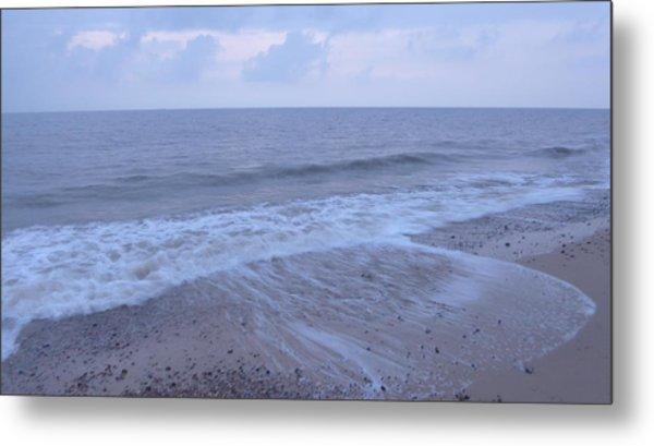 Corton Beach Dawn Ocean Waves 1 Metal Print by Richard Griffin