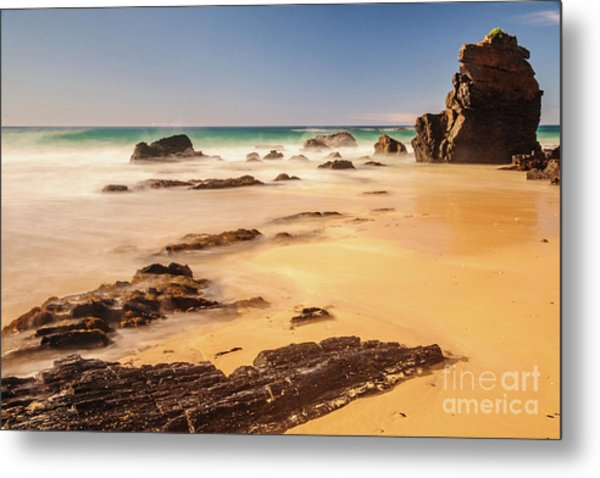 Corunna Point Beach Metal Print