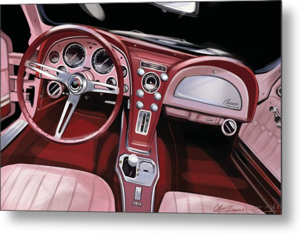 Corvette Sting Ray Interior Metal Print by Uli Gonzalez