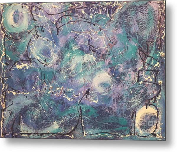 Cosmic Abstract Metal Print