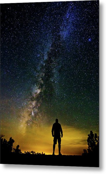 Cosmic Contemplation Metal Print