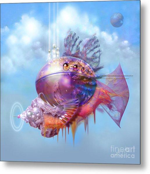 Cosmic Fish Spaceship Metal Print
