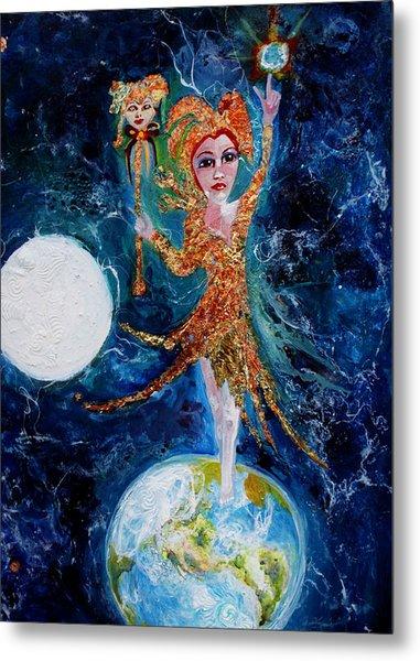 Cosmic  Fool Metal Print by Mary Sonya  Conti