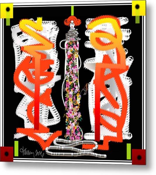 Cosmic Geisha - Dimension Hopping Metal Print