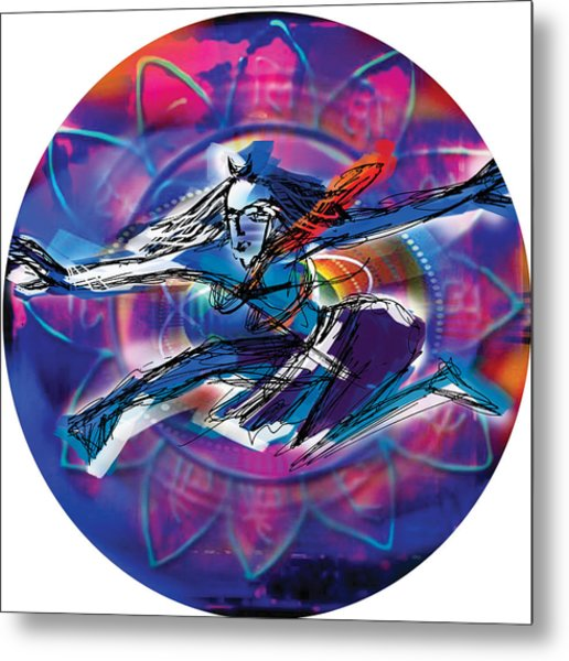 Cosmic Shiva Speed Metal Print