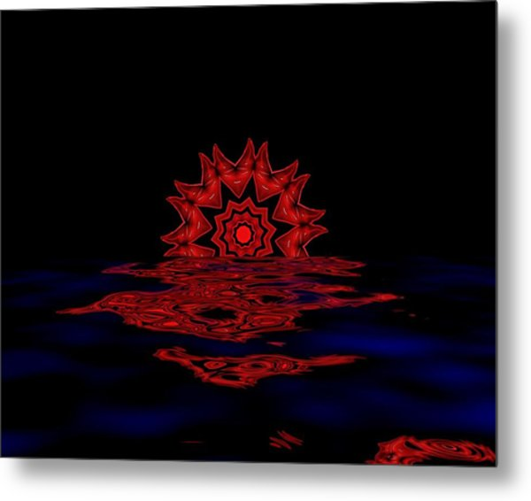 Cosmic Sun Set Metal Print by John Mueller