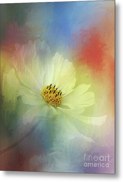 Cosmos Dreaming Abstract By Kaye Menner Metal Print