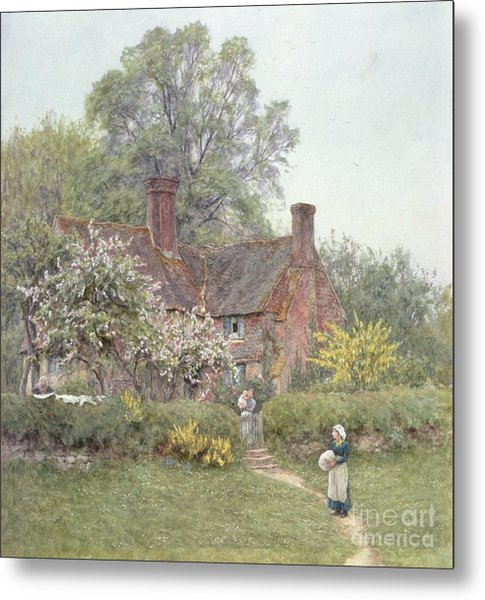 Cottage At Chiddingfold Metal Print