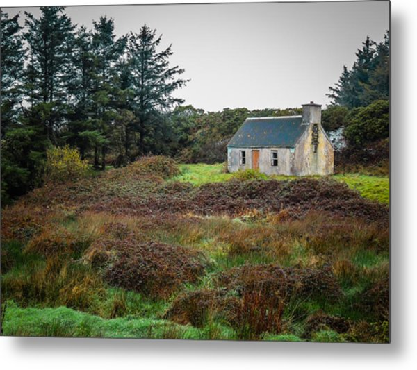 Cottage In The Irish Countryside Metal Print