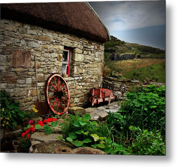 Cottage On The Moor Metal Print