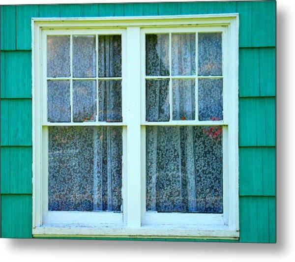 Cottage Windows Metal Print by Mg Blackstock