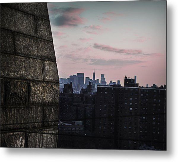 Cotton Candy City Metal Print