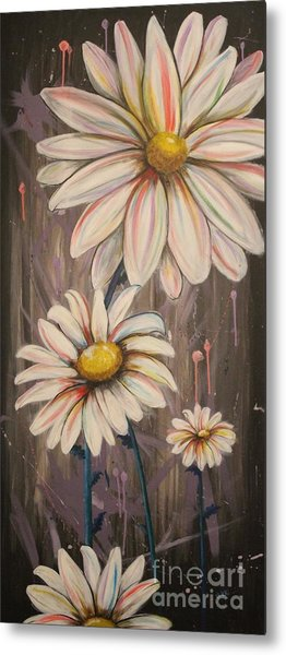 Cotton Candy Daisies Metal Print