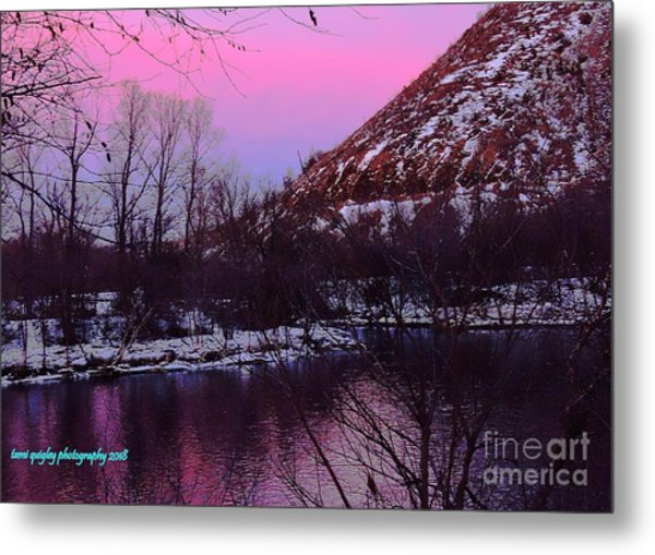 Cotton Candy On The Kittatinny Metal Print