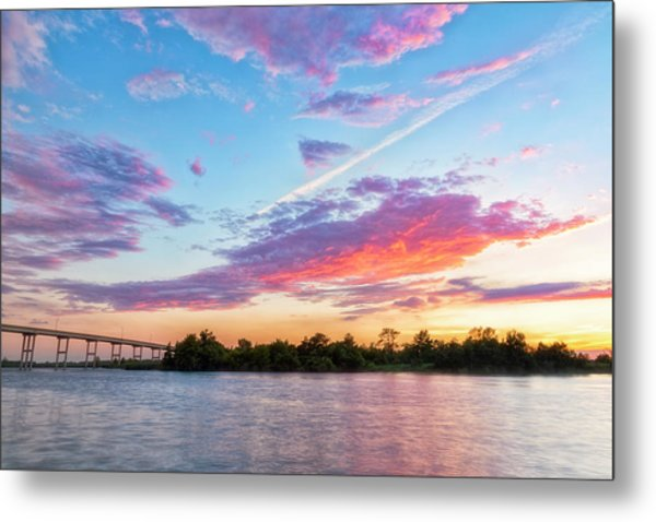 Cotton Candy Sunset Metal Print