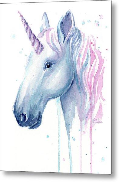 Cotton Candy Unicorn Metal Print